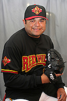 Rochester Red Wings Dennys Reyes during media day at Frontier Field on April 5, 2006 in Rochester, New York.  (Mike Janes/Four Seam Images)