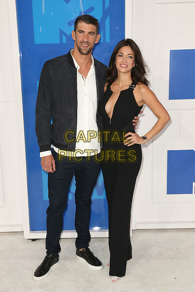 NEW YORK - AUGUST 28: Olympic swimmer Michael Phelps and model Nicole Johnson arrives at the 2016 MTV Video Music Awards at Madison Square Garden on August 28, 2016 in New York City.<br /> CAP/MPI99<br /> &copy;MPI99/Capital Pictures