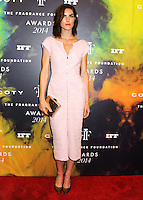 NEW YORK CITY, NY, USA - JUNE 16: Model Hilary Rhoda arrives at the 2014 Fragrance Foundation Awards held at the Alice Tully Hall, Lincoln Center on June 16, 2014 in New York City, New York, United States. (Photo by Celebrity Monitor)