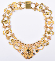 BNPS.co.uk (01202 558833)<br /> Pic: C&TAuctions/BNPS<br /> <br /> An extravagant gold and diamond necklace Napoleon reputedly gave his Polish mistress has emerged for sale for £12,000.<br /> <br /> The lavish piece of jewellery is thought to have been a gift from the Little General to Maria Countess Walewska in 1810.<br /> <br /> The receipt it was sold with reveals it was purchased on May 4, 1810, just six days before she gave birth to their lovechild.<br /> <br /> Experts believe this could have been a present to mark the arrival of Alexandre Joseph.<br /> <br /> At the time, the adulterous Frenchman had only just married the Archduchess Marie-Louise of Austria.