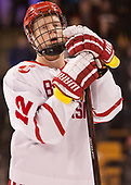 Chase Phelps (BU - 12) - The Harvard University Crimson defeated the Boston University Terriers 6-3 (EN) to win the 2017 Beanpot on Monday, February 13, 2017, at TD Garden in Boston, Massachusetts.
