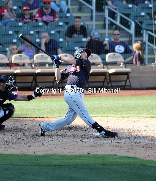 Trenton Brooks - Cleveland Indians 2020 spring training (Bill Mitchell)