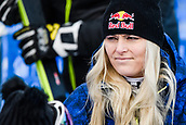 February 5th 2019, Are, Northern Sweden;  Lindsey Vonn of USA looks dejected after competing in womens super-G during the FIS Alpine World Ski Championships on February 5, 2019