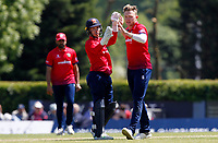 Sam Cook of Essex celebrates taking the wicket of Hilton Cartwright during Middlesex vs Essex Eagles, Royal London One-Day Cup Cricket at Radlett Cricket Club on 17th May 2018