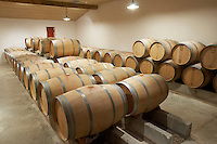 barrel aging cellar ch moulin du cadet saint emilion bordeaux france