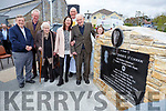 Patrick O'Connor nephew Thomas O'Connor unvailed  with l-r:  Val Moynihan, Gretta O'Connor,  Dan Joe O'Connor Fr Pat O'Donnell,and Ann Moynihan memorial plaque ceremony in Rathmore on Sunday