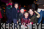 Pictured at the official turning on of Tony Noonan's charity christmas lights by Santa on Friday night in Templeglantine was Lucy Dalton, Templeglantine, Tommy Flynn, Duagh, Liam Dalton, Templeglantine, Rachel Hanrahan, Duagh.