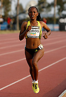 Aheza Kiros won the 5000m in a time of  14:56.33 at the Adidas Track Classic on Saturday, May 16, 2009. Photo by Errol Anderson,The Sporting Image.net