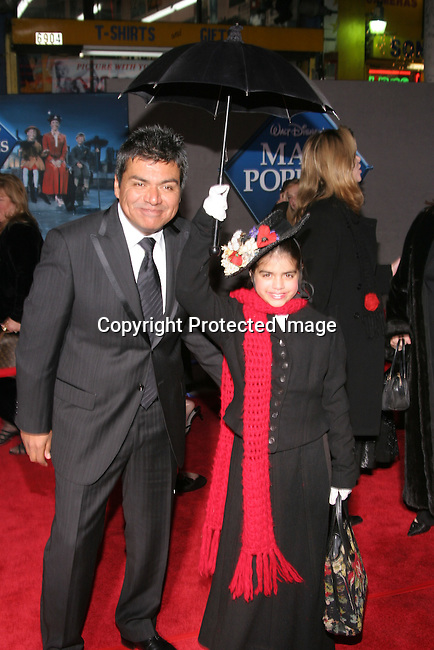 George Lopez &amp; daughter Mayan<br />