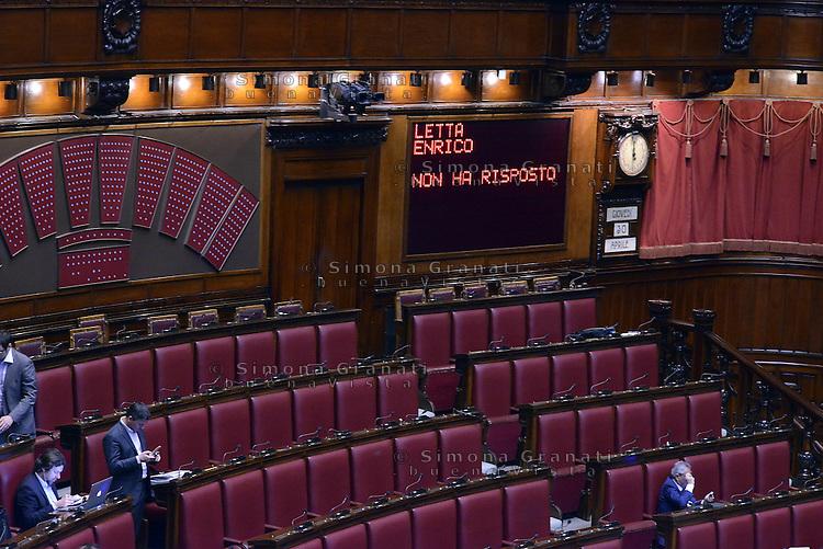 Roma, 30 Aprile 2015<br /> Enrico Letta non ha risposto.<br /> Votata le seconda fiducia alla Legge elettorale