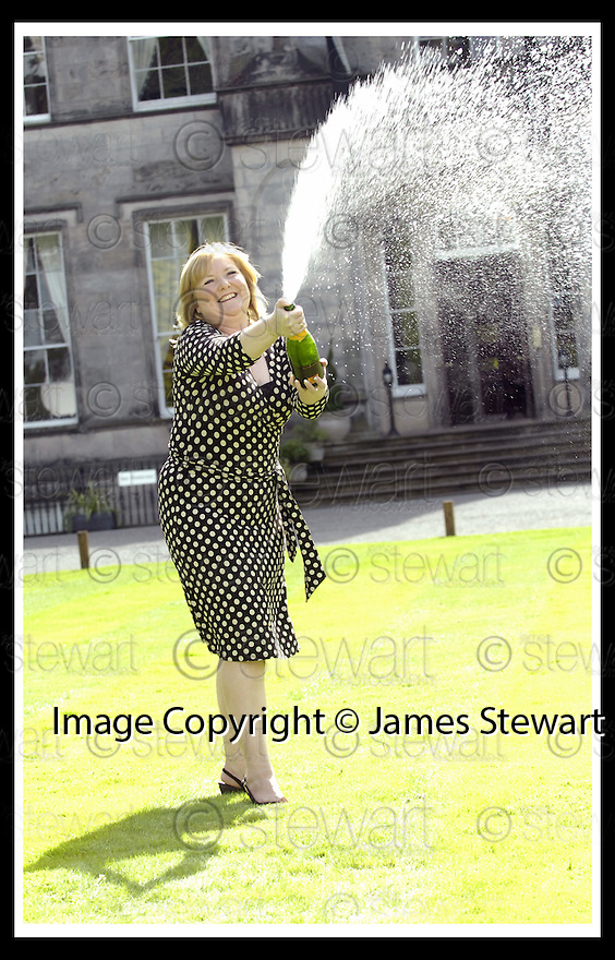 15/08/2007       Copyright Pic: James Stewart.File Name : sct_jspa08_lottery.ANGELA KELLY AT THE PRESS CONFERENCE WHERE SHE COLLECTED HER CHEQUE FOR £35,425,411.80 AFTER HER EUROMILLIONS LOTTERY WIN.....James Stewart Photo Agency 19 Carronlea Drive, Falkirk. FK2 8DN      Vat Reg No. 607 6932 25.Office     : +44 (0)1324 570906     .Mobile   : +44 (0)7721 416997.Fax         : +44 (0)1324 570906.E-mail  :  jim@jspa.co.uk.If you require further information then contact Jim Stewart on any of the numbers above........