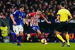 Victor Machin, Vitolo, of Atletico de Madrid (C) is followed by Mikel San Jose Dominguez of Athletic de Bilbao (L) during the La Liga 2018-19 match between Atletico de Madrid and Athletic de Bilbao at Wanda Metropolitano, on November 10 2018 in Madrid, Spain. Photo by Diego Gouto / Power Sport Images