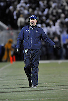 23 November 2013:  Penn State coach Bill O'Brien. The Nebraska Cornhuskers defeated the Penn State Nittany Lions 23-20 in overtime at Beaver Stadium in State College, PA.