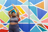 Jessamyn Stanley for Old Navy in Durham, NC Wednesday, January 9, 2019 (Justin Cook)