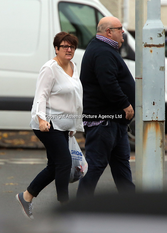 Pictured: Samantha Murray Evans (L), arrives at Swansea Crown Court. Friday 13 October 2017<br /> Re: A cop who won bravery awards had his career ruined when a woman he met through a dating website falsely claimed he had raped her.<br /> PC Paul Morgan, 52, suffered the indignity of being arrested by his own colleagues and held in a cell overnight after the allegation by Samantha Murray-Evans, 45, a woman he met through the Plenty of Fish website.<br /> Lengthy investigations followed adding to the PC's stress until it was eventually decided that Murray-Evans, who told PC Morgan she was a college lecturer and actress, had been lying.<br /> She is pleading guilty to perverting the course of justice when she appears at Swansea Crown Court this Friday. (October 13th).<br /> PC Morgan, a cop for 21 years, has been off sick for a year following the allegation and is of the belief that Murray-Evans lies were clear from the outset and he should have been believed rather than her.Pictured: Samantha Murray Evans (L), arrives at Swansea Crown Court. Friday 13 October 2017<br /> Re: A cop who won bravery awards had his career ruined when a woman he met through a dating website falsely claimed he had raped her.<br /> PC Paul Morgan, 52, suffered the indignity of being arrested by his own colleagues and held in a cell overnight after the allegation by Samantha Murray-Evans, 45, a woman he met through the Plenty of Fish website.<br /> Lengthy investigations followed adding to the PC's stress until it was eventually decided that Murray-Evans, who told PC Morgan she was a college lecturer and actress, had been lying.<br /> She is pleading guilty to perverting the course of justice when she appears at Swansea Crown Court this Friday. (October 13th).<br /> PC Morgan, a cop for 21 years, has been off sick for a year following the allegation and is of the belief that Murray-Evans lies were clear from the outset and he should have been believed rather than her.
