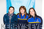 Joanne O'Connor, Kityy Flynn and Louise O'Sullivan cheering on the Keanes Super Valu Killorglin team in their National League clash with Kestrels in Killorglin on Saturday night