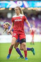 Orlando, FL - Saturday April 22, 2017: Kristie Mewis during a regular season National Women's Soccer League (NWSL) match between the Orlando Pride and the Washington Spirit at Orlando City Stadium.