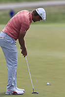 Bryson DeChambeau (USA) putts on the 3rd green during Friday's Round 2 of the 117th U.S. Open Championship 2017 held at Erin Hills, Erin, Wisconsin, USA. 16th June 2017.<br /> Picture: Eoin Clarke | Golffile<br /> <br /> <br /> All photos usage must carry mandatory copyright credit (&copy; Golffile | Eoin Clarke)