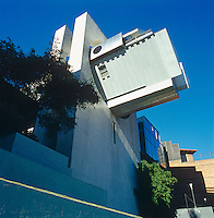 The futuristic and surreal exterior of the Casa En El Aire designed by Agustin Hernandez