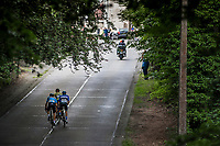 Early break away group with Belgium team rider Laurens De Vreese (BEL/Astana) up the 'La Houppe'. <br /> <br /> Belgian Cycling / Team Belgium<br /> <br /> 71th Halle Ingooigem 2018 (1.1)<br /> 1 Day Race: Halle > Ingooigem (197.7km)