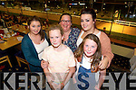 front l-r Shannon Enright, Kelly O'Halloran, back l-r Rachel O'Halloran, Jacinta O'Halloran, Vicky Stone, Kerins O'rahilly Tralee enjoying a night at the Dogs at the Kingdom Greyhound Stadium on Saturday