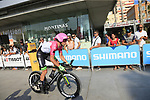 Mitchell Docker (AUS) EF-Drapac-Cannondale during Stage 1 of the La Vuelta 2018, an individual time trial of 8km running around Malaga city centre, Spain. 25th August 2018.<br /> Picture: Ann Clarke | Cyclefile<br /> <br /> <br /> All photos usage must carry mandatory copyright credit (© Cyclefile | Ann Clarke)
