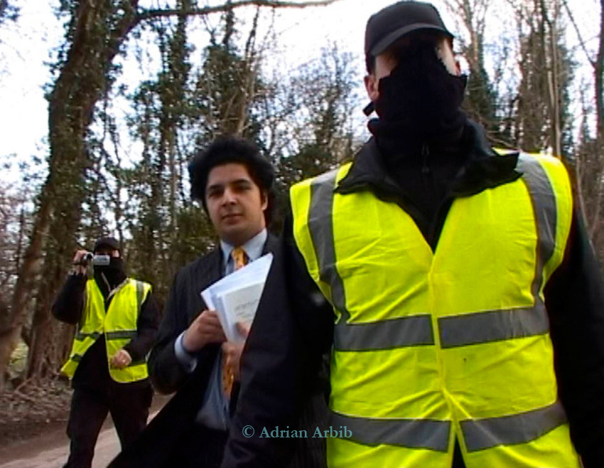 Frame grabs from video shot by photgrapher and journalist Adrian Arbib.   Arbib was injuncted with by  lawyers acting for N power whilst covering a news story about the potential dumping of ash at Radley Lakes. <br />