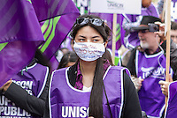 Britian Needs A Pay Rise TUC Demo Oct 2014