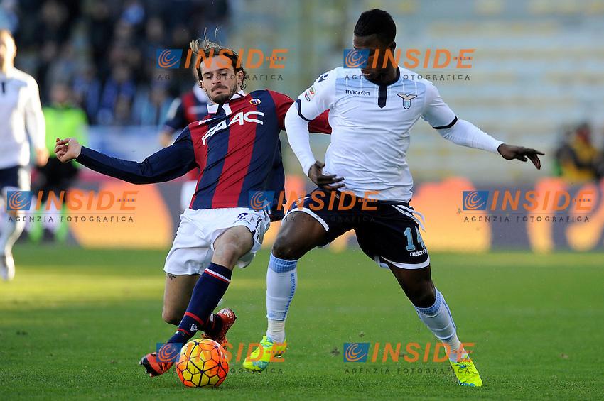 Marios Oikonomou Bologna, Keita Balde Lazio <br /> Bologna 17-01-2016 Stadio Dall'Ara Football Calcio Serie A 2015/2016 Bologna - Lazio Foto Insidefoto