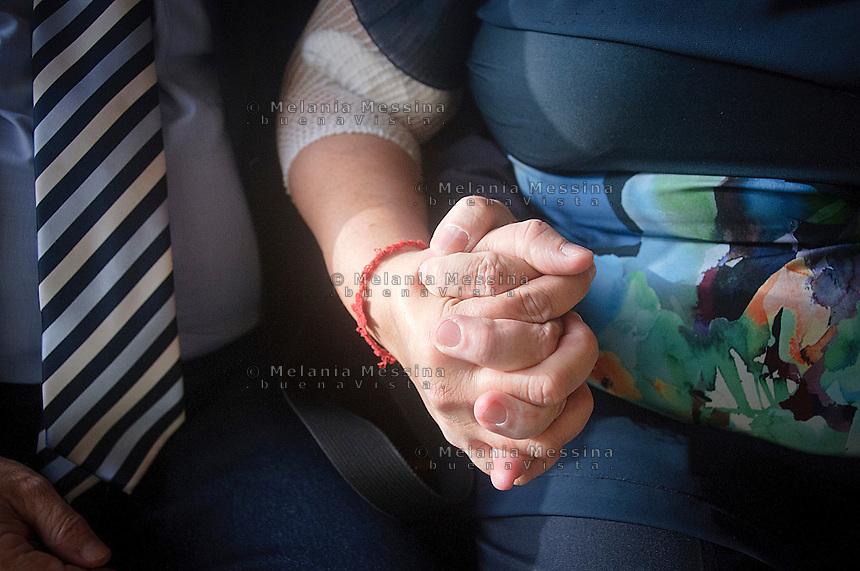 I coniugi Re:Lia e Giuseppe, la sign.ra lia indossa il braccialetto rosso dei malati di leucemia<br /> Re family