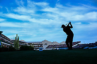 Phil Mickelson (USA) on the 16th tee during the 1st round of the Waste Management Phoenix Open, TPC Scottsdale, Scottsdale, Arisona, USA. 31/01/2019.<br /> Picture Fran Caffrey / Golffile.ie<br /> <br /> All photo usage must carry mandatory copyright credit (© Golffile | Fran Caffrey)