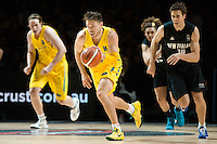 Melbourne, 15 August 2015 - Matthew DELLAVEDOVA of Australia in action during game one of the 2015 FIBA Oceania Championships in men's basketball between the Australian Boomers and the New Zealand Tall Blacks at Rod Laver Arena in Melbourne, Australia. Aus def NZ 71-59. (Photo Sydney Low / sydlow.com)