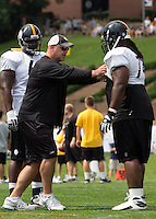 Willie Colon, Pittsburgh Steeler offensive tackle. Training camp, August 11, 2011 at Latrobe, Pennsylvania.