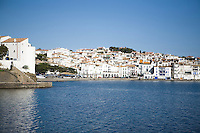 A view of Cadaques, famous for its whitewashed facades of village houses