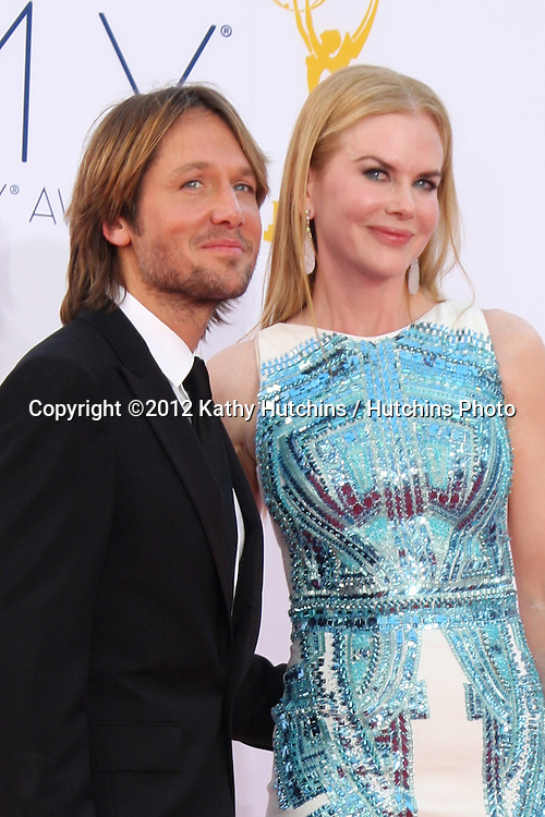 LOS ANGELES - SEP 23:  Keith Urban, Nicole Kidman arrives at the 2012 Emmy Awards at Nokia Theater on September 23, 2012 in Los Angeles, CA