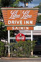 Historic Like Like Drive Inn restaurant sign on Keeaumoku St., Honolulu