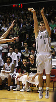 Tall Blacks captain Kirk Penney attempts a three-pointer during the International basketball match between the NZ Tall Blacks and Australian Boomers at TSB Bank Arena, Wellington, New Zealand on 25 August 2009. Photo: Dave Lintott / lintottphoto.co.nz