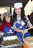 Los Angeles, CA - NOVEMBER 23: Christina DeRosa, Natasha Blasick, At Los Angeles Mission Thanksgiving Meal For The Homeless At Los Angeles Mission, California on November 23, 2016. Credit: Faye Sadou/MediaPunch