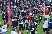 STANFORD, CA - OCTOBER 10, 2014:  David Shaw and the Teambefore Stanford's game against Washington State. The Cardinal defeated the Cougars 34-17.