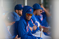 Chicago Cubs infielder Rafael Mejia (13) during an Extended Spring Training game against the Colorado Rockies at Sloan Park on April 17, 2018 in Mesa, Arizona. (Zachary Lucy/Four Seam Images)