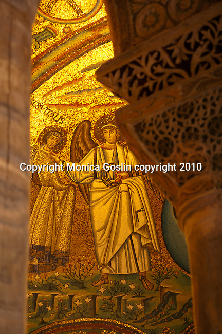 Mosaics in the Basilica of San Vitale in Ravenna, Italy.