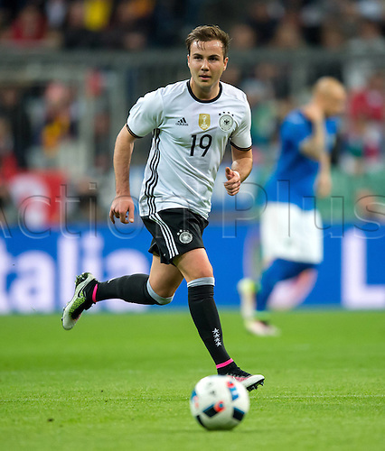 29.03.2016. Munich, Germany. International soccer match between Germany and Italy, at the Allianz Arena in Munich.  Mario Goetze (Ger)