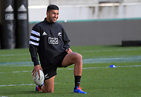 Rieko Ioane during the 2019 Investec Rugby Championship Series New Zealand All Blacks training session at Westpac Stadium in Wellington, New Zealand on Thursday, 25 July 2019. Photo: Dave Lintott / lintottphoto.co.nz