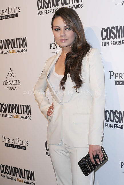 WWW.ACEPIXS.COM . . . . . .March 7, 2011...New York City...Mila Kunis attends COSMOPOLITAN Fun Fearless Male Awards at the Mandarin Oriental Hotel Ballroom on March 7, 2011 in New York City....Please byline: KRISTIN CALLAHAN - ACEPIXS.COM.. . . . . . ..Ace Pictures, Inc: ..tel: (212) 243 8787 or (646) 769 0430..e-mail: info@acepixs.com..web: http://www.acepixs.com .