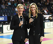 5th October 2017, Spark Arena, Auckland, New Zealand; Constellation Cup, New Zealand Silver Ferns versus Australia Diamonds;   Sky TV commentators and former Silver Ferns players Anna Staanley and Adine Wilson