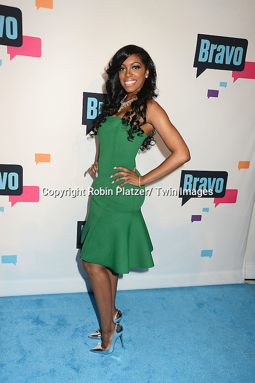 """Porsha Stewart  of """" The Real Housewives of Atlanta """" arrives at the Bravo 2013  Upfront on April 3, 2013 at Pillars 37 Studio in New York City."""