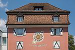 Sonnenuhr, sundial, reloj de sol, Rathaus, Town-hall, Sevelen, St. Gallen, SG, Schweiz, Switzerland.<br /> <br /> Foto: Paul Trummer