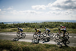 Tim Declercq and Yves Lampaert (BEL) Quick-Step Floors lead the way during Stage 15 of the 2018 Tour de France running 181.5km from Millau to Carcassonne, France. 22nd July 2018. <br /> Picture: ASO/Pauline Ballet | Cyclefile<br /> All photos usage must carry mandatory copyright credit (&copy; Cyclefile | ASO/Pauline Ballet)