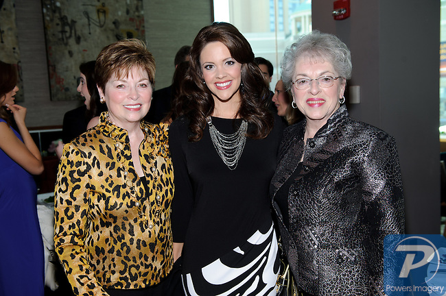 Donna Axum, Jennifer Berry (M.A. 2006), and Mona Turnham (M.A. 1964) at the 90th Anniversary Miss America luncheon held at Nieman Marcus inside the Fashion Show Mall, Las Vegas, NV, January 13, 2011 © Al Powers / Vegas Magazine