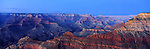America Panorama - Grand Canyon at Dusk. Arizona, America.<br />